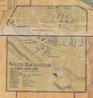North Haverstraw, New York 1859 Old Town Map Custom Print with Homeowner Names - Rockland Co.