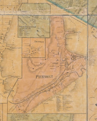 Piermont, New York 1859 Old Town Map Custom Print with Homeowner Names - Rockland Co.