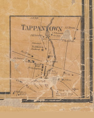 Tappantown, New York 1859 Old Town Map Custom Print with Homeowner Names - Rockland Co.