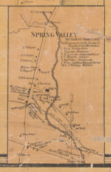 Spring Valley, New York 1859 Old Town Map Custom Print with Homeowner Names - Rockland Co.