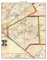 Fowler, New York 1858 Old Town Map Custom Print - St. Lawrence Co.