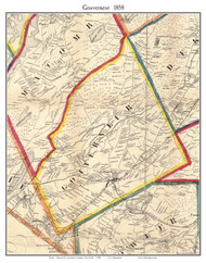 Gouverneur, New York 1858 Old Town Map Custom Print - St. Lawrence Co.