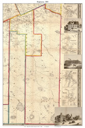 Hopkinton, New York 1858 Old Town Map Custom Print - St. Lawrence Co.