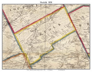 Norfolk, New York 1858 Old Town Map Custom Print - St. Lawrence Co.