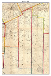 Pierrepont, New York 1858 Old Town Map Custom Print - St. Lawrence Co.