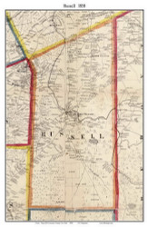 Russell, New York 1858 Old Town Map Custom Print - St. Lawrence Co.