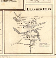 Brasher Falls, New York 1858 Old Town Map Custom Print - St. Lawrence Co.