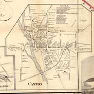 Canton Village, New York 1858 Old Town Map Custom Print - St. Lawrence Co.