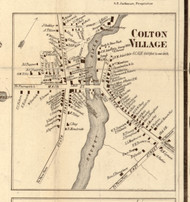 Colton Village, New York 1858 Old Town Map Custom Print - St. Lawrence Co.