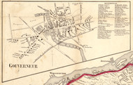 Gouverneur Village, New York 1858 Old Town Map Custom Print - St. Lawrence Co.
