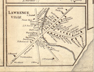 Lawrenceville, New York 1858 Old Town Map Custom Print - St. Lawrence Co.