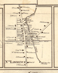 North Lawrence, New York 1858 Old Town Map Custom Print - St. Lawrence Co.