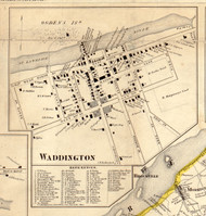 Waddington, New York 1858 Old Town Map Custom Print - St. Lawrence Co.