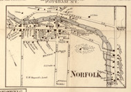 Norfolk Village, New York 1858 Old Town Map Custom Print - St. Lawrence Co.