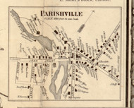Parrishville Village, New York 1858 Old Town Map Custom Print - St. Lawrence Co.