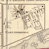 East Pierrepont, New York 1858 Old Town Map Custom Print - St. Lawrence Co.
