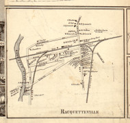 Racquetteville, New York 1858 Old Town Map Custom Print - St. Lawrence Co.
