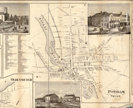 Potsdam Village, New York 1858 Old Town Map Custom Print - St. Lawrence Co.