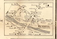 Russell Village, New York 1858 Old Town Map Custom Print - St. Lawrence Co.