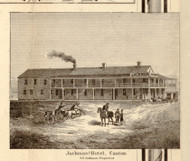 Jackmans Hotel, New York 1858 Old Town Map Custom Print - St. Lawrence Co.