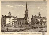 St. Lawrence Academy and Presbyterian Church, New York 1858 Old Town Map Custom Print - St. Lawrence Co.