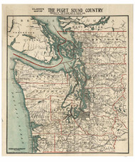 Puget Sound Country 1910 - Clason