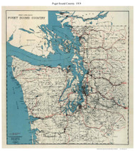 Puget Sound Guide Map 1919 - Kroll