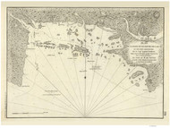 Casco Harbor and Bay-Small Point to Cape Elizabeth 1779 - Old Map Reprint - Maine Coastline