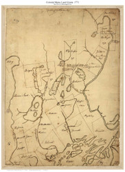 Colonial Maine Land Grants-Sacco to Androscoggin River 1771 - Old Map Reprint - Maine Coastline