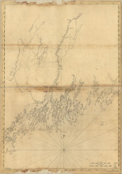 Maine Coast-Casco Bay Mosquito Island to Spurwink River  1776 - Old Map Reprint - Maine Coastline