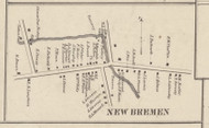 New Brennen Village, New York 1857 Old Town Map Custom Print with Homeowner Names - Genealogy Reprint - Lewis Co.