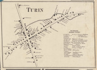 Turin Village, New York 1857 Old Town Map Custom Print with Homeowner Names - Genealogy Reprint - Lewis Co.