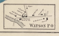 Watson Villege, New York 1857 Old Town Map Custom Print with Homeowner Names - Genealogy Reprint - Lewis Co.