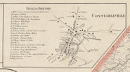 Constableville, New York 1857 Old Town Map Custom Print with Homeowner Names - Genealogy Reprint - Lewis Co.