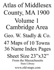 Intro Sheet, 1900 - Old Street Map Reprint - Middlesex Co. Atlas Vol.1 - Cambridge Area