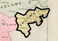 Custom Index, 1900 - Old Street Map Reprint - Middlesex Co. Atlas Vol.1 - Cambridge Area