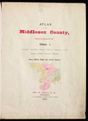 Title Page, 1900 - Old Street Map Reprint - Middlesex Co. Atlas Vol.1 - Cambridge Area