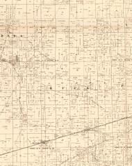 Buck, Illinois 1870 Old Town Map Custom Print - Edgar Co.