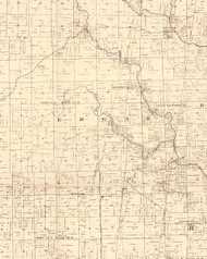 Edgar, Illinois 1870 Old Town Map Custom Print - Edgar Co.