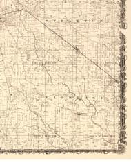 Elbridge, Illinois 1870 Old Town Map Custom Print - Edgar Co.