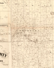 Embarrass, Illinois 1870 Old Town Map Custom Print - Edgar Co.