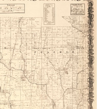 Prairie, Illinois 1870 Old Town Map Custom Print - Edgar Co.