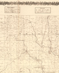 Ross, Illinois 1870 Old Town Map Custom Print - Edgar Co.