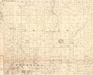 Shiloh, Illinois 1870 Old Town Map Custom Print - Edgar Co.