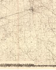 Sims, Illinois 1870 Old Town Map Custom Print - Edgar Co.
