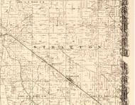 Stratton, Illinois 1870 Old Town Map Custom Print - Edgar Co.