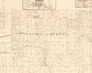 Young America, Illinois 1870 Old Town Map Custom Print - Edgar Co.