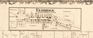Elbridge - Edgar Co., Illinois 1870 Old Town Map Custom Print - Edgar Co.