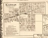 Kansas - Edgar Co., Illinois 1870 Old Town Map Custom Print - Edgar Co.