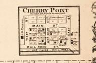 Cherry Point - Edgar Co., Illinois 1870 Old Town Map Custom Print - Edgar Co.